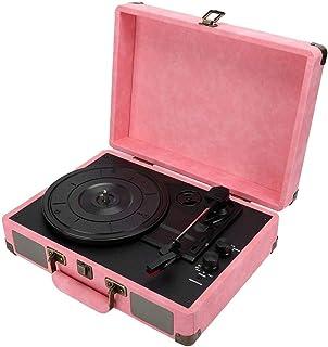 Gramófono, Bluetooth Portátil Maleta Tocadiscos 33/45/78 RPM Soporte para discos 3 + Velocidad + Tocadiscos Tocadiscos Toc...