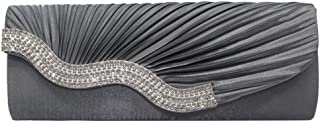 Cckuu Wave Shaped Women Crystal Flap Wedding/Party/Prom Evening Clutch Handbags