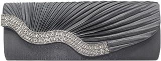 Wiwsi Wave Design Women Crystal Flap Evening Handbags Wedding Party Prom Clutch