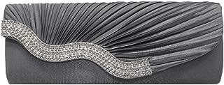 Wiwsi Wedding/Party/Prom Wave Shaped Women Crystal Flap Evening Handbags Clutch