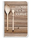BookFactory Food and Health Journal/Food Diary/Fitness Journal Notebook - 186 Pages - 6' x 9' Durable Thick Translucent...