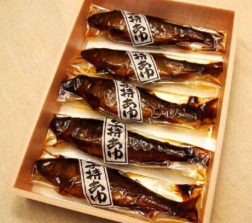 産地直送 湖魚 子持ちアユ5点詰め合わせ 甘露煮 佃煮 鮎 あゆ 滋賀県特産品
