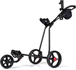 Tangkula Golf Push Cart 3 چرخ تاشو سبک گلف سبک وزن