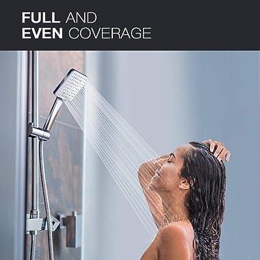 Newentor High Pressure Shower Head with Handheld - 6 Settings Showerheads & Handheld Showers - Modern Handheld Shower Hea