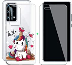 Kjyf Transparent Case With Screen Protector For Huawei P40 Pro