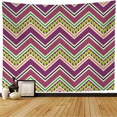CDMT-XU1 Colorido Africano Retro Peruano Tribal línea de Rayas Azteca geométrico Abstracto Verano Belleza Color Tapiz 80x60 Pulgadas