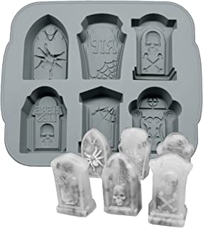 Best Silicone Ice Cube Trays Halloween RIP Gravestone Mold for Ice, Candy, Cake, Soap Review