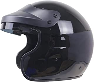 Harley Helmet/DOT Certification/for The Adult Adult ATV MX Road Race Scooter Riding Helmet (Black),XXL