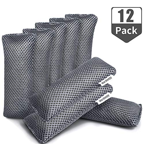 UPGRADED 12 Pack Activated Bamboo Charcoal Air Purifying Bags, Activated Charcoal Odor Absorber,Shoe Deodorizer Bags, Odor Eliminator for Shoes, Gym Bag, Car, Pet, Closet