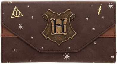Cartera Harry Potter con parches de metal: Amazon.es ...