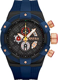 Brera Orologi Men's Supersportivo Blue, Black, Blue & Rosegold 48mm BRSSC4923F