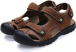 Sandales de Marche Homme Cuir Bout Randonnée Plage Fermé Ouvert Chaussure Sport Fermées Trekking