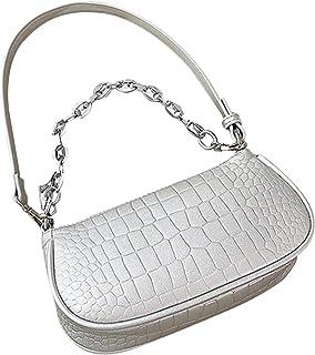 ALEOHALTER Bolso de mano retro clásico pequeño de cuero sintético con cierre de cremallera para mujer