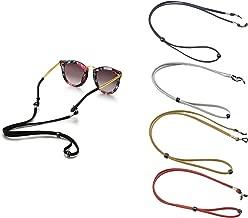 DunkelLila Hacoly Perlen Brillenband Kordel Brillenketten f/ür Damen Kinder Brillen Seil Accessoire Schnur Kordel Lanyard Lesebrille Kette Sonnebrillen Halter Laufende Sportbrille Band