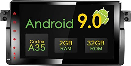 Amaseaudio Upgrade 9 inch TFT LCD Touchscreen Android 9.0 DSP Auto Car Radio Player 1 Din Deckless in-Dash Navigation GPS Head Units for BMW E46 M3 318 320 325 330 335