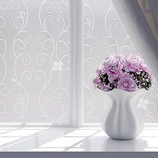 Pellicola per Vetri Non Adesiva per Sala Riunioni Home Office 45X60Cm YFXGSTLI Pellicola per Vetri Privacy Adesivo per Finestra Decorativo Smerigliato