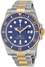 Rolex Submariner Blue Dial Stainless Steel and 18K Yellow Gold Bracelet Automatic Men's Watch 116613BLSO