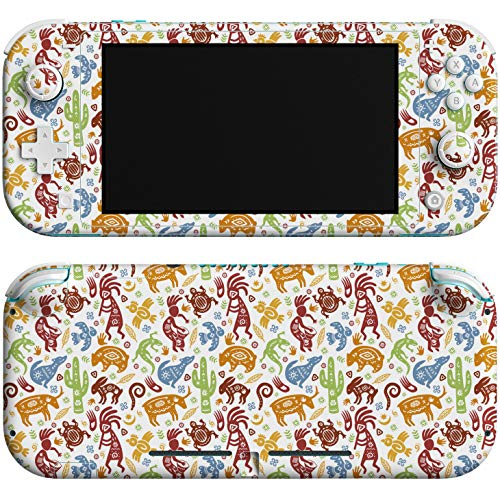 Lex Altern Skin Decal Compatible with Switch Lite 2019 Console Sticker Vinyl Protective Cover Mexican Art Game Native American Wrap Indian Animals Cactus Full Body Controller nlh093