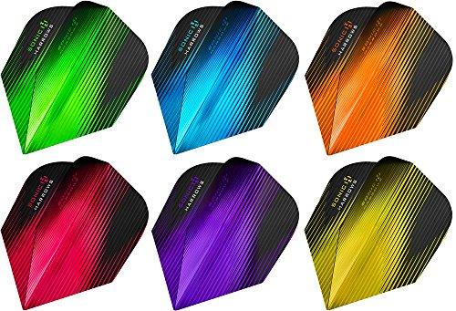 Harrows-Sonic-Metallic-100-Mikron-Dartflüge, blau, 3 Sets