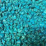 MAXIAOTONG Azul Turquesa Cristal Grava caída Grava Piedras 100g Chips caídos aplastados de Piedra de Cristal de Cuarzo