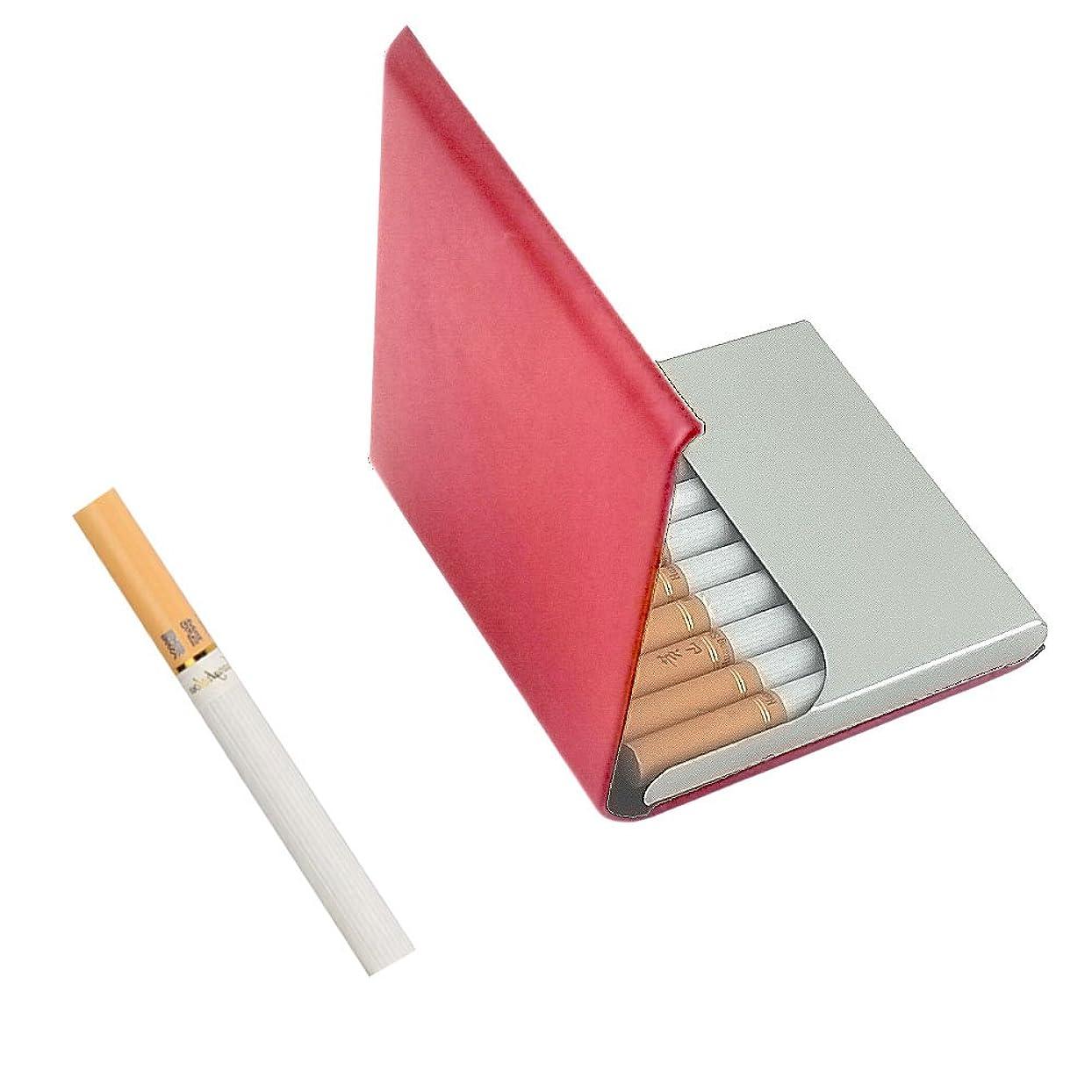 南極形成過半数カードボックス/カードケース/タバコ ケース ロングサイズ(84mm) 10本収納 スリム 磁気バックル (ワインレッド)