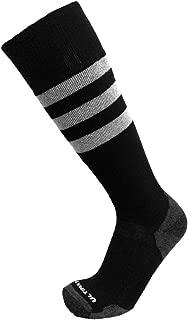 Ultimate Socks Mens Snowboard Ski Merino Wool Warm Socks Black/Grey Large 9-11.5