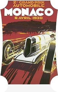 Sign Destination Aluminum Metal Wall Decor Grand Prix Monaco 1930 Old Travel Vertical Poster Picture Photo Print Wall Art - Berlin Shape, 8