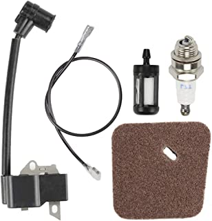 Fuel Li Ignition Coil with Air Filter Kit for Stihl FS85 FS75 FC85 HL75 HT70 HT75 HL75K HS75 HS80 HS85 KM85 Hedge Trimmers Edgers Replaces 4137 400 1350/41374001350