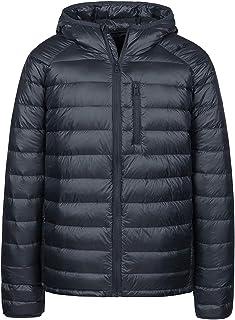 Wantdo Men`s Packable Insulated Light Weight Hooded Puffer Down Jacket