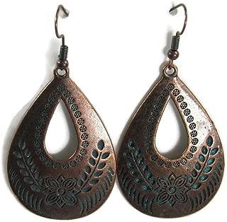 BOLD Dangle Fashion Filagree Metal Styles Statement Earrings Vintage Retro BOHO Patterns