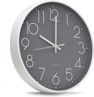 horloge murale 30 cm - Horloge murale design moderne - Horloge cuisine, salon, salle de bain, chambre - Pendule murale sil...