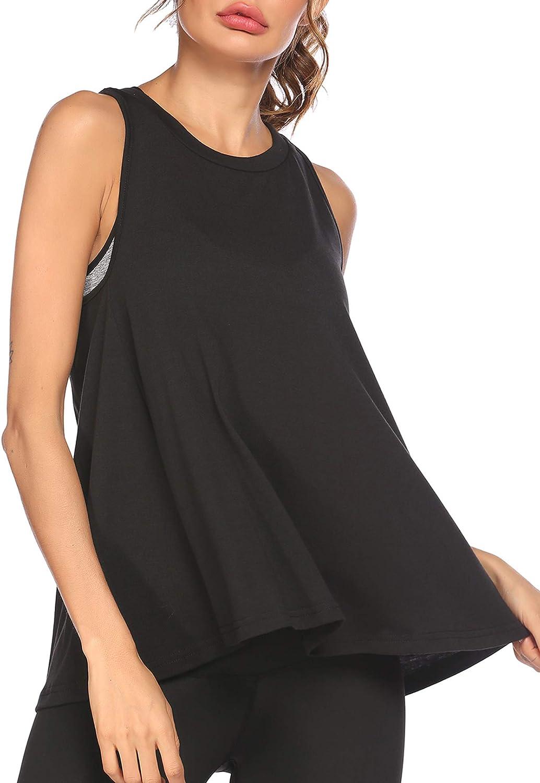 Pinspark Workout Tank Tops for Women Sleeveless Racerback Athletic Yoga Running Shirts Activewear S-XXL