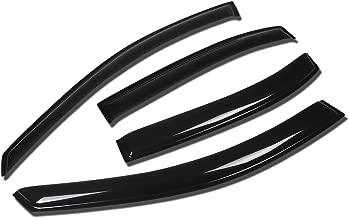 For Sonata NF 4DR 4pcs Tape-On Window Visor Deflector Rain Guard