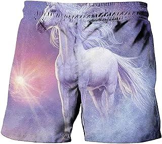 NFBZ Anime Unicorn Boys Beach Shorts Swimming Shorts 3D Print Summer Beach Shorts Board Shorts Swim Trunks No Fading No Sh...
