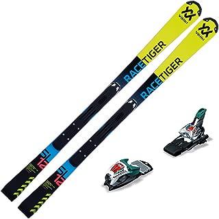 Volkl 2018 Junior Racetiger Speedwall SL R Skis with Marker Race 10 TCX Bindings