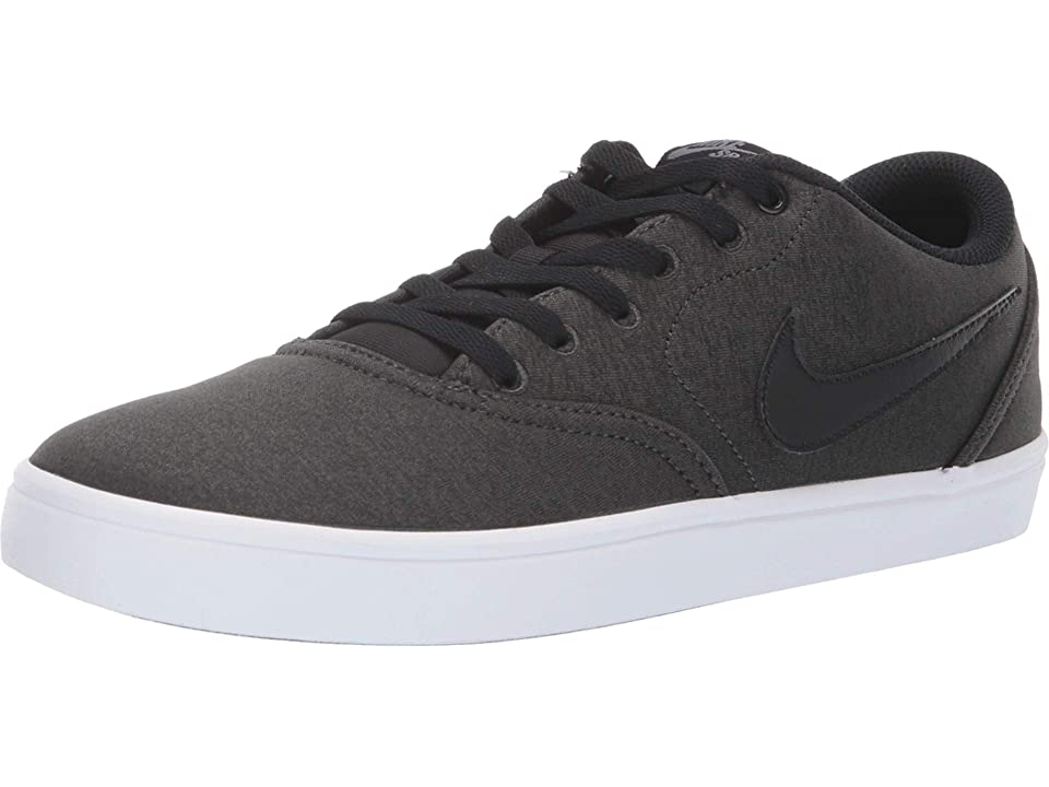 Nike SB Check Solar Canvas Premium (Anthracite/Black/White/Gunsmoke) Men's Skate Shoes
