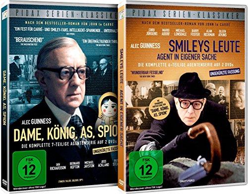 Dame, König, As, Spion + Smileys Leute - Gesamtedition / Beide Kultserien nach den Bestsellern von John le Carré auf 4 DVDs (Pidax Serien-Klassiker)