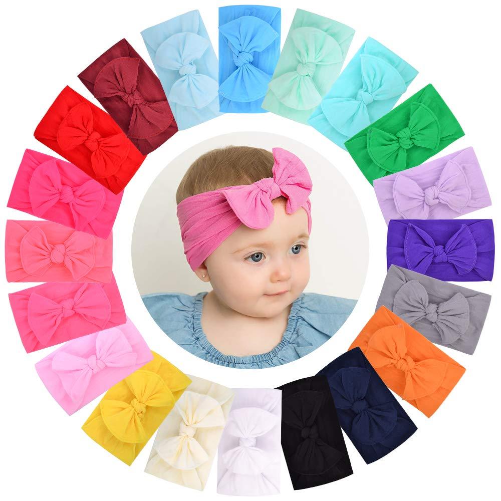 20PCS Baby Nylon Headbands Hairbands for Bow excellence Hair Elastics Virginia Beach Mall
