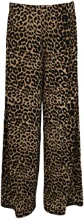 Forever Womens Plus Size Rose Skull Aztec And Leopard Print Palazzo Trousers