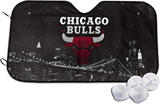 Chicago Basketball Bulls Car Windshield Sun Shade - Blocks Uv Rays Sun Visor Protector, Sunshade to Keep Your Vehicle Cool and Damage Free,Easy to Use, Fits Windshields of Small