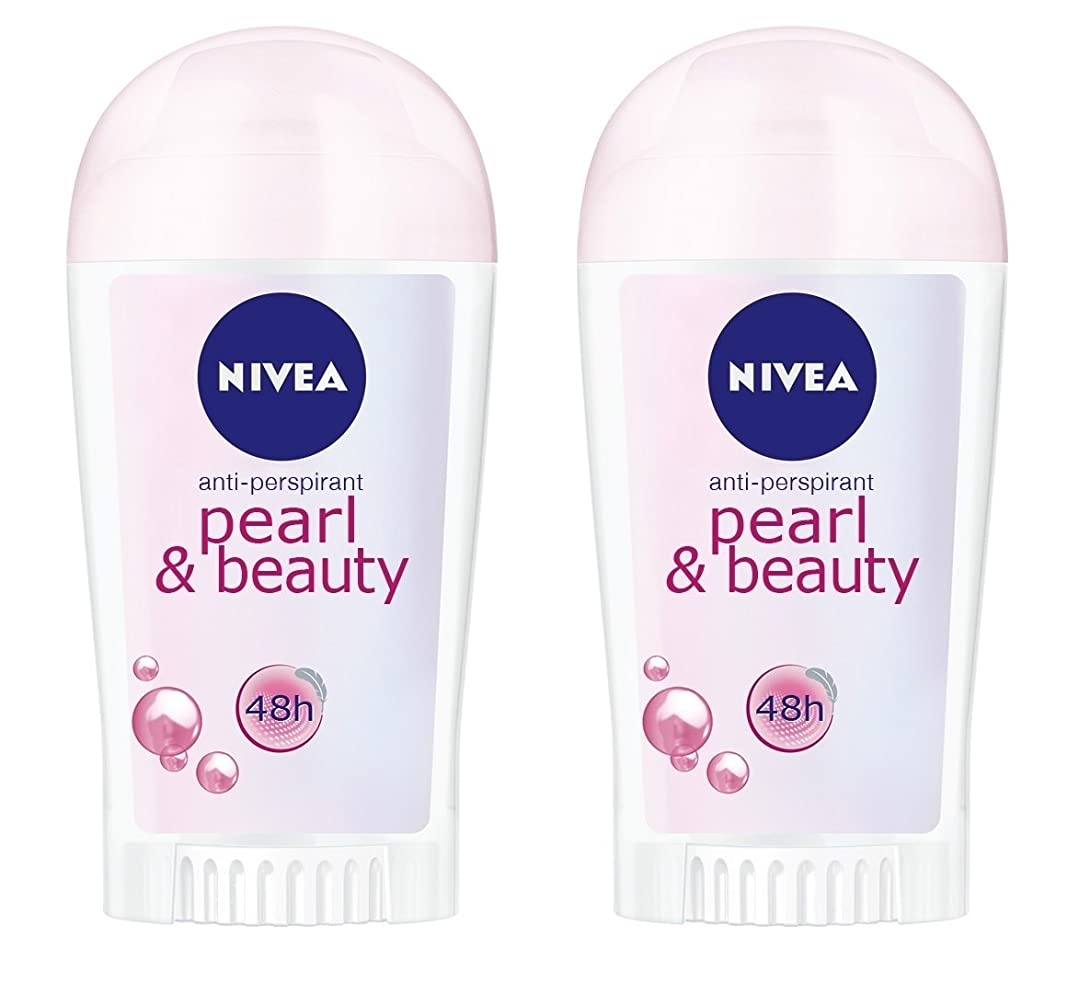 世論調査安西叱る(2パック) ニベアパールそしてビューティー制汗剤デオドラントスティック女性のための2x40ml - (Pack of 2) Nivea Pearl & Beauty Anti-perspirant Deodorant Stick for Women 2x40ml
