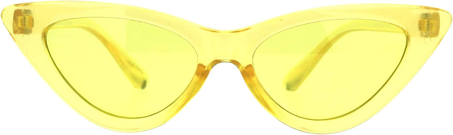 Girls Kid Size OFFicial site Gothic Cat Eye Free Shipping Cheap Bargain Gift Color Lens Sunglasses Plastic Pimp