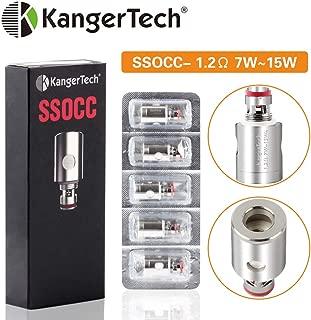 Kangertech カンガーテック 電子タバココイル SSOCC 0.5/1.2Ω 専用交換コイル セット オーガニックコットン 電子タバコ部品 5個入り