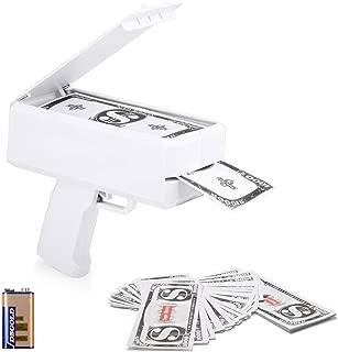 Viape Money Gun Make It Rain White Money Shooter NO Logo with 100 Pcs Prop Money & 9v Battery Party Favors Toy Gift Cash Party Supplies