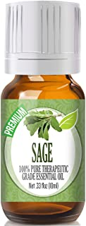 Sponsored Ad - Sage Essential Oil - 100% Pure Therapeutic Grade Sage Oil - 10ml