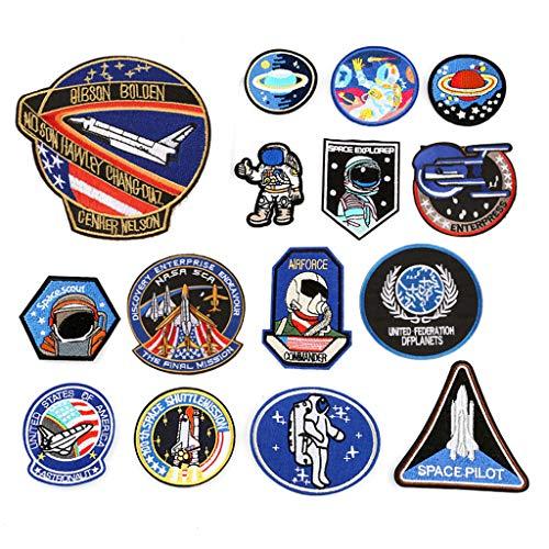 La Aeronáutica Espacial Astronauta Hierro En Remiendos
