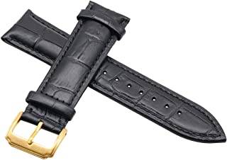 Autulet Leather Watch Band Strap Replacement 12-24mm Optional Color Watch Band for Mens Ladies Watch Strap