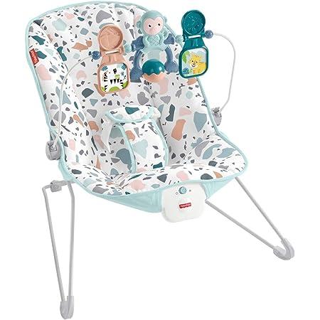 Fisher-Price GWD38 - Terrazzo Bouncer, Hamaca con Vibraciones Relajantes Para Bebés 0+ Meses (Mattel GWD38)