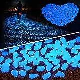 LANDUA Rocas de la decoración del jardín Luminosas Piedras Brillan en la Oscuridad Decorativo de Piedras de Pescado al Aire Libre del Tanque del Acuario Decoración Pebble Color de la Mezcla
