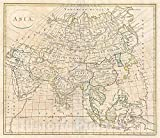 Historic Map - Clement Cruttwell Map of Asia -, 1799 - Vintage Wall Art - 24in x 20in